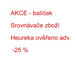 AKCE:  Balíček Srovnávače zboží a Heureka ověřeno