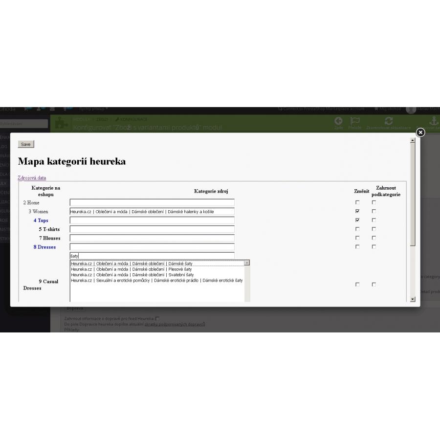 Srovnávače zboží - export xml s variantami produktů (heureka.cz ... 2a994c5eae
